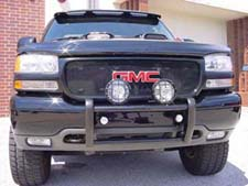 example of bad foglights on a GMC