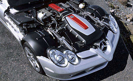 mclaren Mercedes SLR engine bay
