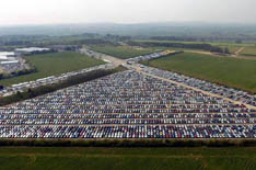 image of a lot full of MG Rover autos